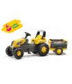 ROLLYTOYS 800285 Šlapací traktor Rolly Junior s Farm vlečkou - žlutý