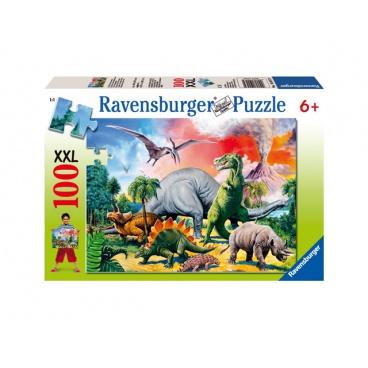 Ravensburger dětské puzzle Mezi dinosaury 100 XXL