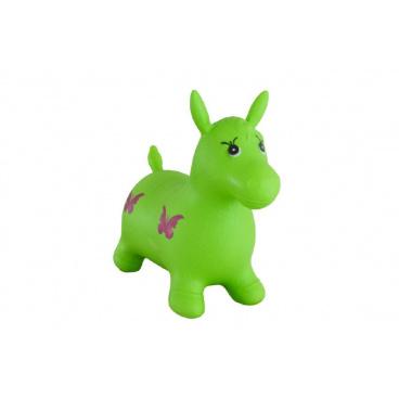 Teddies Hopsadlo kůň skákací gumový zelený 49x43x28cm v sáčku