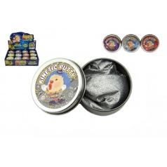 Teddies Hmota/modelína 40g inteligentní třpytivá glitter 6cm asst mix barev v plechové krabičce