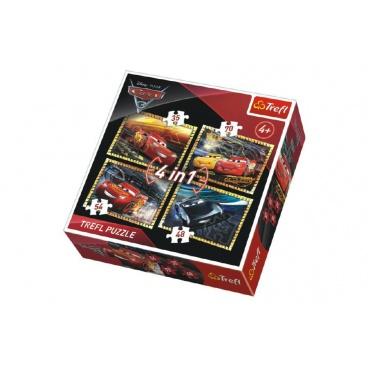 Trefl Puzzle 4v1 Auta/Cars 3 Disney v krabici 28x28x6cm