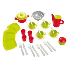 Ecoiffier Role play Ecoiffier Čajový servis a sada nádobí v tašce