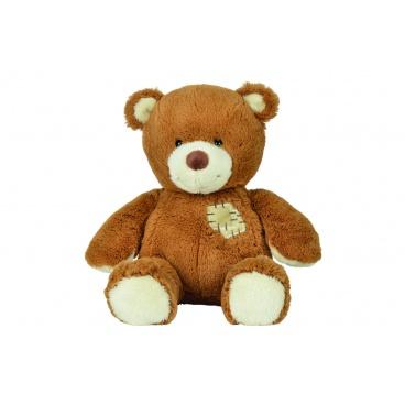 Nicotoy Plyšový medvídek s ozdobnou záplatou, 25cm