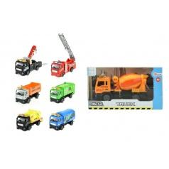 Auto nákladní kov/plast 12cm na zpětné natažení asst 8 druhů