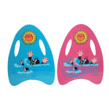 Wiky Plavací deska Krtek pěnová 33x45cm asst 2 barvy
