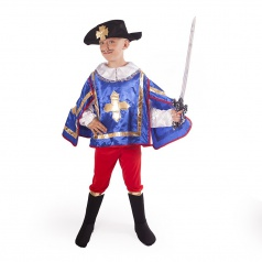Rappa Dětský kostým mušketýr modrý (M)