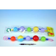 Profibaby Reťaz/zábrana farebné gule plast 40cm asst v sáčku