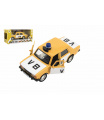 Teddies Policejní auto VB kov/plast 11,5cm na zpětné natažení na baterie se zvukem v krabičce 15x7x7cm