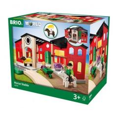 BRIO 33791 Stáj s příslušenstvím příslušenství k vláčkodráhám
