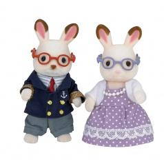 """Babička a dědeček """"chocolate"""" králíci"""