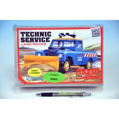 Stavebnice Monti 01 Technik Service Land Rover 1:35 v krabici 22x15x6cm
