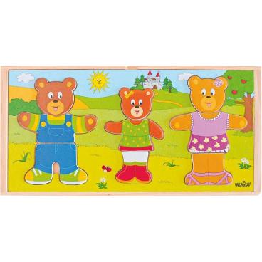 Woody Šatní skříň - medvědí rodinka