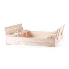 Woody Pískoviště dřevěné s krytem, se 2 lavicemi, natur