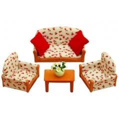 Sylvanian Families 4464 Nábytek - sedací souprava se stolečkem