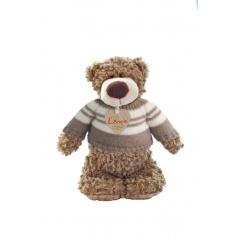 LUMPIN plyš Medvěd Denis ve svetru, malý