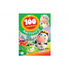 Aktivity Zvířata se 100 samolepkami CZ verze 21x28cm