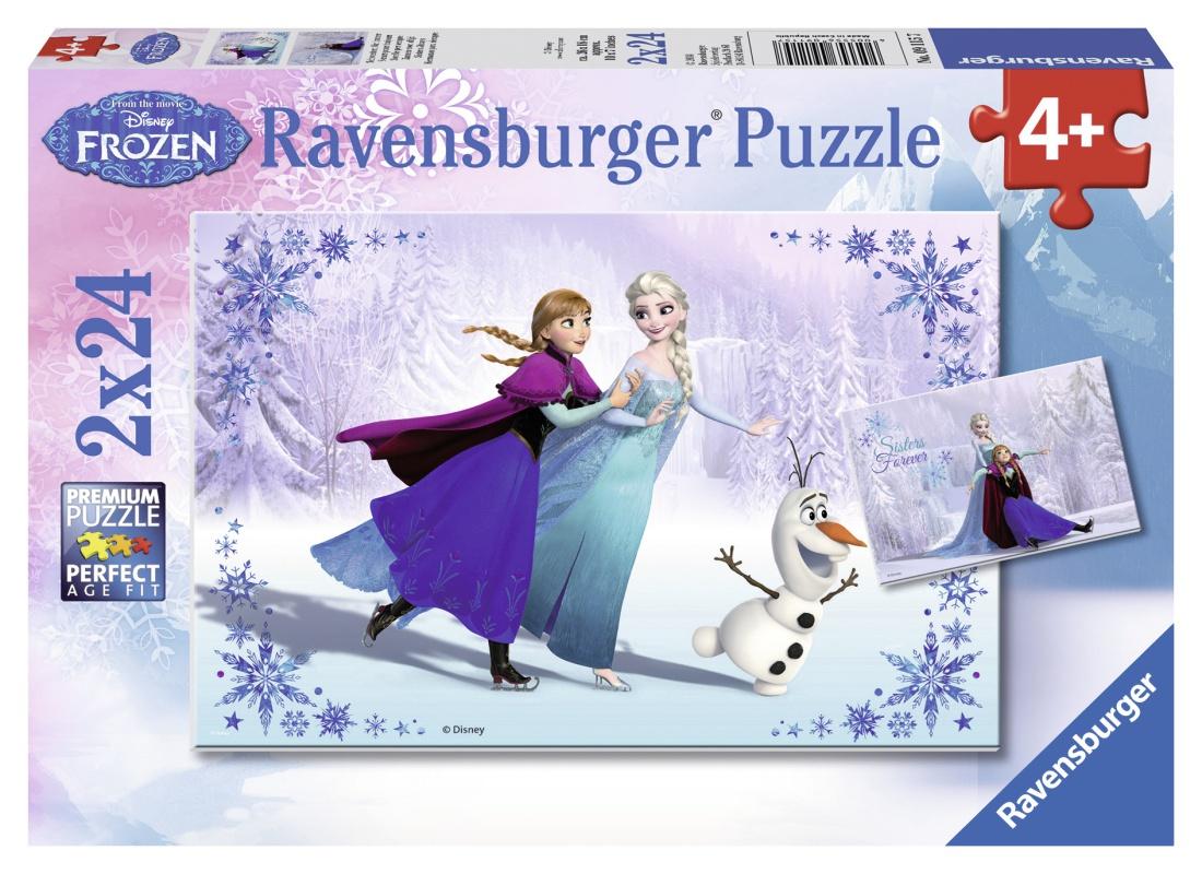 Ravensburger dětské puzzle Ledové království 2 x 24d