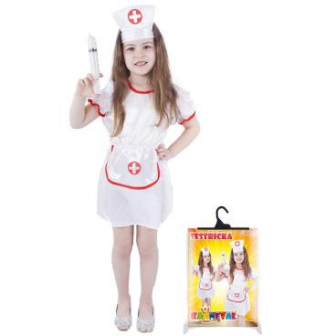 Karnevalový dětský kostým zdravotní sestřička velikost M