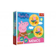 Trefl Pexeso papírové Prasátko Peppa/Peppa Pig společenská hra 36 kusů v krabici 20x20x5cm