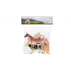 Teddies Zvieratá farma plast 11-16cm 5ks v sáčku