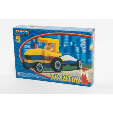 Chemoplast Stavebnica Cheva 5 Traktor s vlekom 84ks v krabici