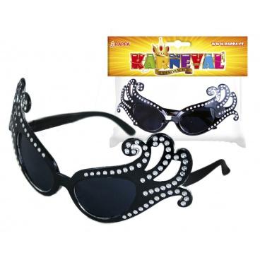 Rappa Karnevalové brýle Lady G černé