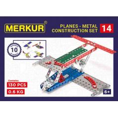 MERKUR - Stavebnice Merkur 014 Letadlo, 119 dílů, 10 modelů