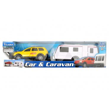 Mac Toys Teama Mac Toys teama 1:32 Auto s karavanem 4ass