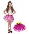 Dětský kostým sukně TUTU růžová s flitry