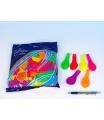 """Smart Balloons Balonek nafukovací 7"""" párty neon, 100 ks v sáčku 22x28cm karneval"""
