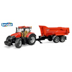 BRUDER 3199 Farmer - traktor Krampe s vyklápěcí vlečkou
