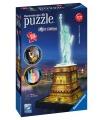 Ravensburger Socha Svobody 3D svítící puzzle (Noční edice) 108d