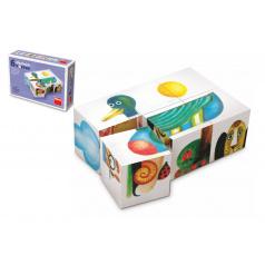 TOPA Kostky kubus dřevo 6ks v krabičce 12,5x8,5x4cm
