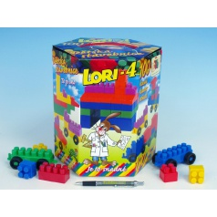 LORI Stavebnica LORI 4 plast 100ks v krabici 23x25x20cm
