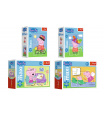 Trefl Minipuzzle miniMaxi 20 dílků Zábava s Peppou Pig/Peppa pig, 4 druhy