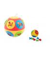 Teddies Vkládačka míč plast průměr 13cm 2 barvy v síťce 12m+