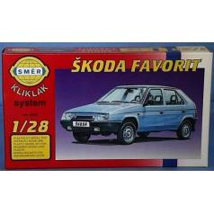 Směr modely plastové auto Škoda Favorit             1:28