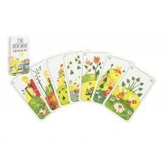 Hrací karty, s.r.o. Prší jednohlavé detské Štyri ročné obdobia spoločenská hra v plastové krabičke 7x11x1,5cm