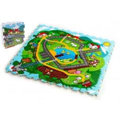 Teddies Pěnové puzzle Město Moje první zvířátka 30x30x1,2cm, 9dílů