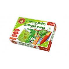 Trefl Malý objevitel Zvířata světa + kouzelná tužka edukační společenská hra v krabici 33x23x6cm