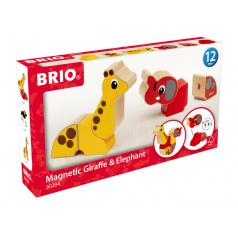Brio Magnetická zvířátka žirafa a slon