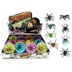 Teddies Sliz - hmota pavouk 7cm asst