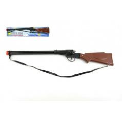 Pistole/Puška kapslovka kov/plast 65cm 8 ran na kartě
