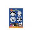 SMT Creatoys Maska škraboška 3D papírová 4ks pirát, superhrdina, lev, mýval  karneval v sáčku 22x32,5x2cm