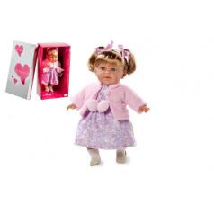 Arias Panenka vonící 42cm růžové šaty smějící se měkké tělo na baterie v krabici