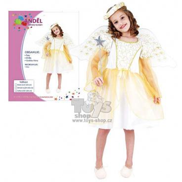 dětský karnevalový kostým - Anděl 120-130cm