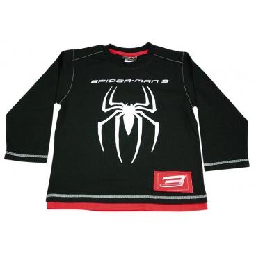 """Tričko dl. rukáv """"Černý Spider"""", vel. na 6 let"""