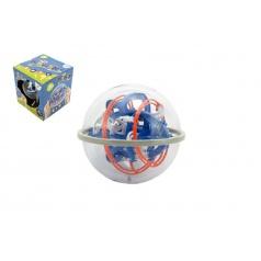 Teddies Hlavolam edukační koule 80 kroků plast 18cm v krabici 19x20x19cm CZ design