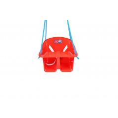 Teddies Houpačka Baby plast červená nosnost 20kg 36x30x29cm 24m+