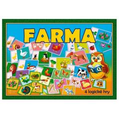 Farma 4 logické hry společenská hra v krabici 29x20x4cm